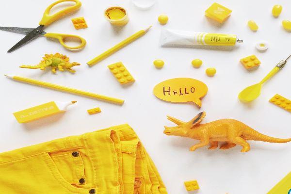黄色い工作 想像力