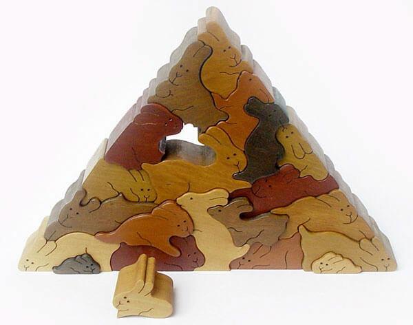 ウサギのピラミッド 立体パズル