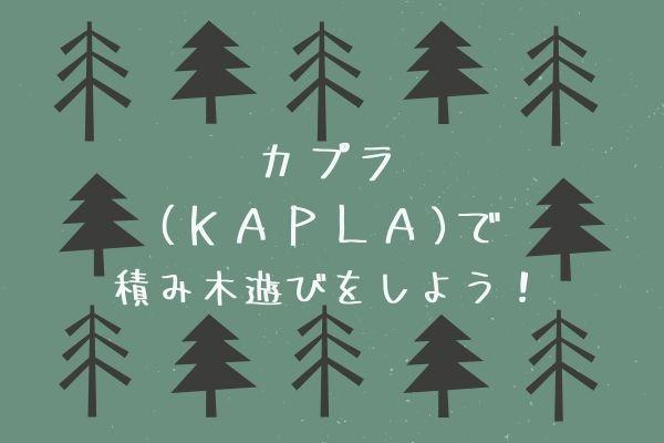 カプラで積み木遊びをしよう!